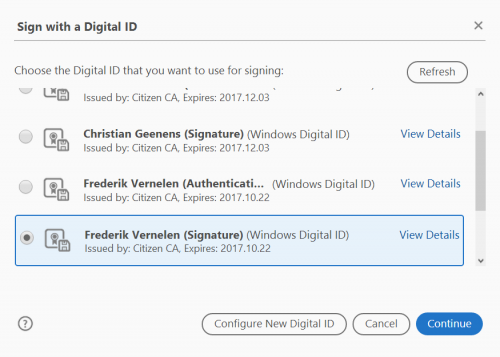 How do I digitally sign a document with Acrobat Reader DC
