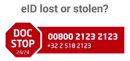 eID lost or stolen 00800 2123 2123 / +32 2 518 2123